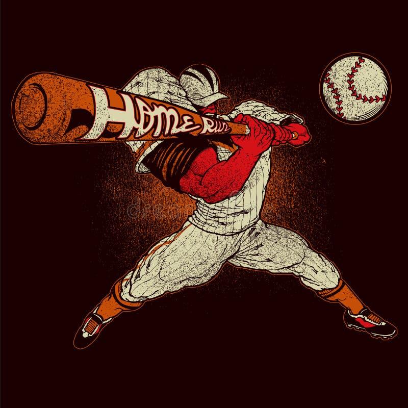 Gniewny gracz baseballa royalty ilustracja