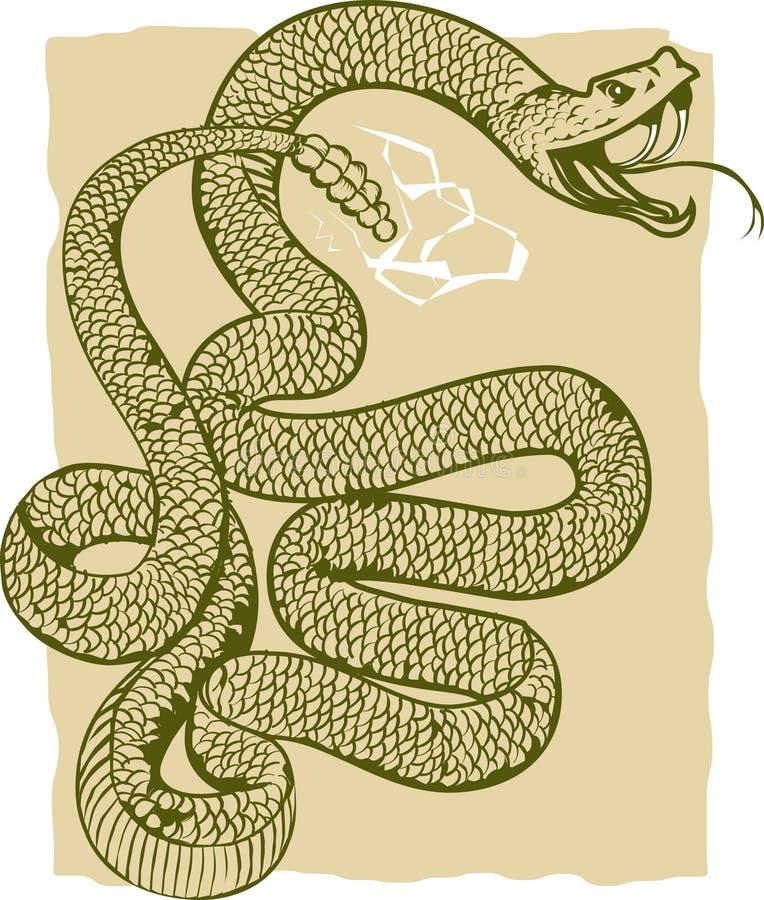 gniewny grzechotnik royalty ilustracja