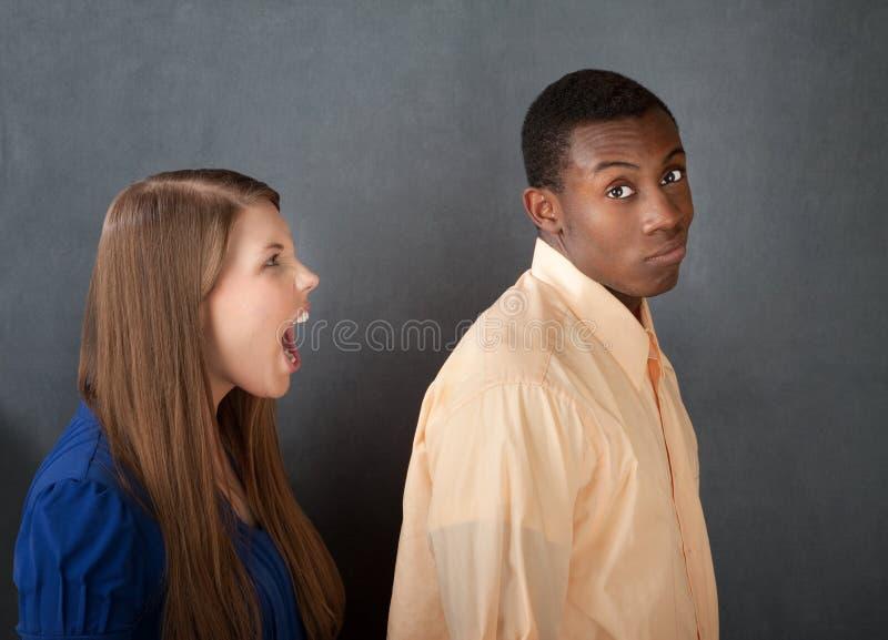 gniewny ignoruje mężczyzna kobiety zdjęcia royalty free