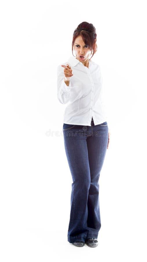 Download Gniewny Indiański Młodej Kobiety łajanie Somebody Obraz Stock - Obraz złożonej z studio, fotografia: 41951181