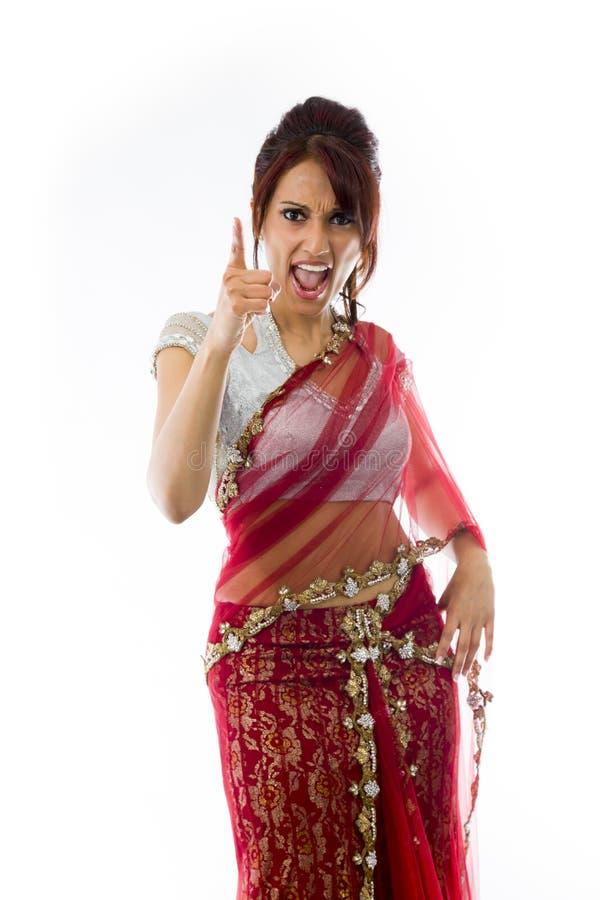 Download Gniewny Indiański Młodej Kobiety łajanie Somebody Zdjęcie Stock - Obraz złożonej z konfrontacja, znak: 41951640
