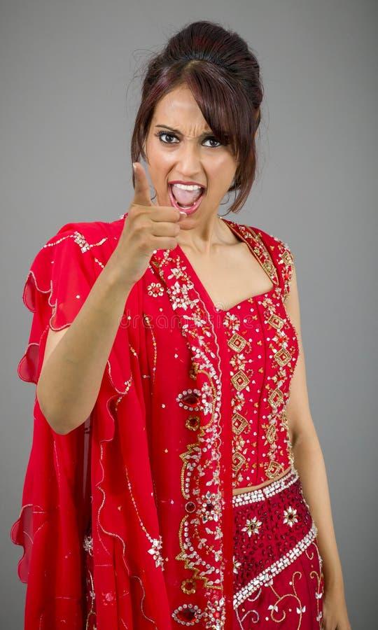 Download Gniewny Indiański Młodej Kobiety łajanie Somebody Zdjęcie Stock - Obraz złożonej z facial, komunikacja: 41952202