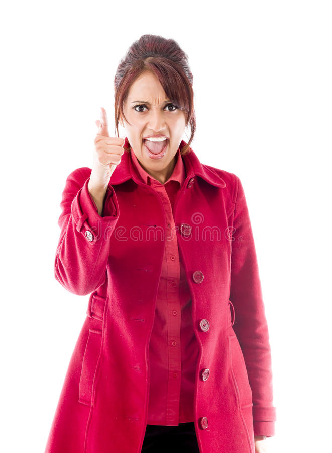 Download Gniewny India?ski M?odej Kobiety ?ajanie Somebody Zdjęcie Stock - Obraz złożonej z przód, gesundheit: 41950424