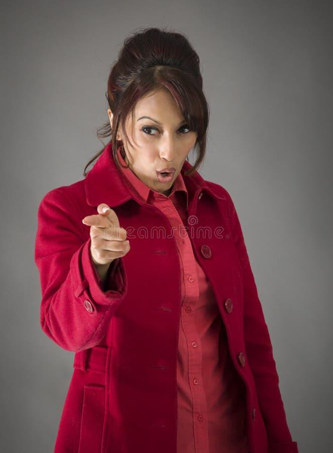 Download Gniewny India?ski M?odej Kobiety ?ajanie Somebody Obraz Stock - Obraz złożonej z ręka, gesundheit: 41950555
