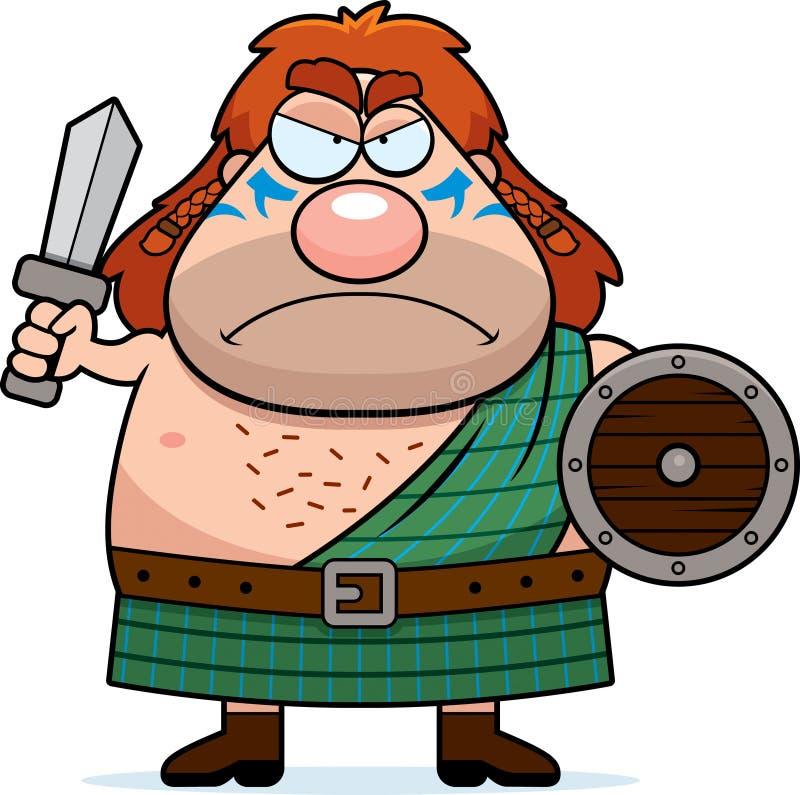 Gniewny kreskówka celta wojownik royalty ilustracja