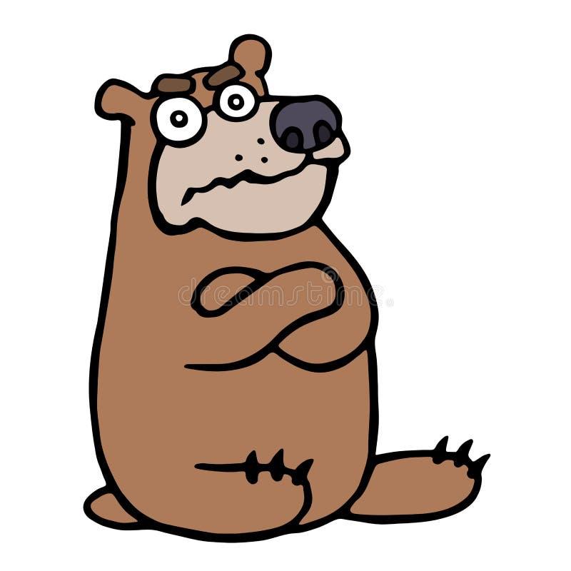 gniewny kreskówka niedźwiedź również zwrócić corel ilustracji wektora ilustracja wektor