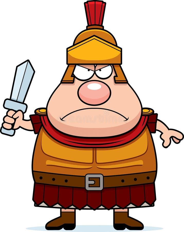 Gniewny kreskówka rzymianina centurion ilustracja wektor