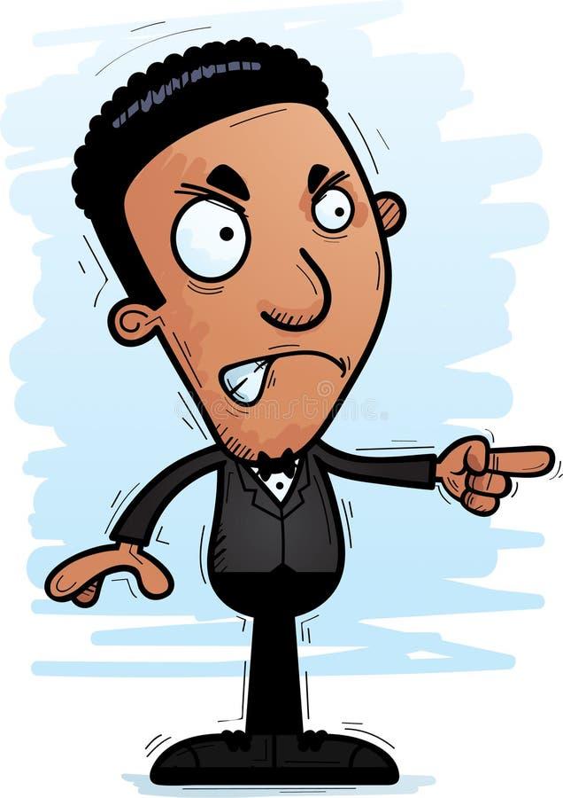 Gniewny kreskówki czerni fornal ilustracja wektor