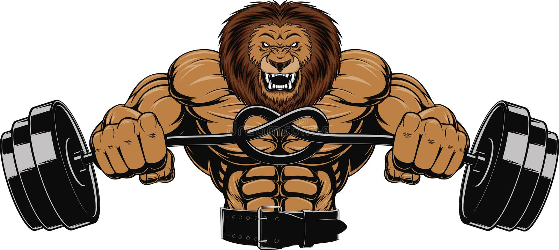 Gniewny lew royalty ilustracja