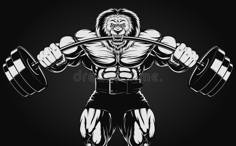 Gniewny lew ilustracja wektor
