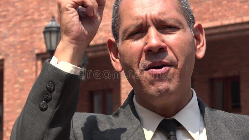 Gniewny Lub Zaakcentowany Biznesowy mężczyzna zdjęcie stock