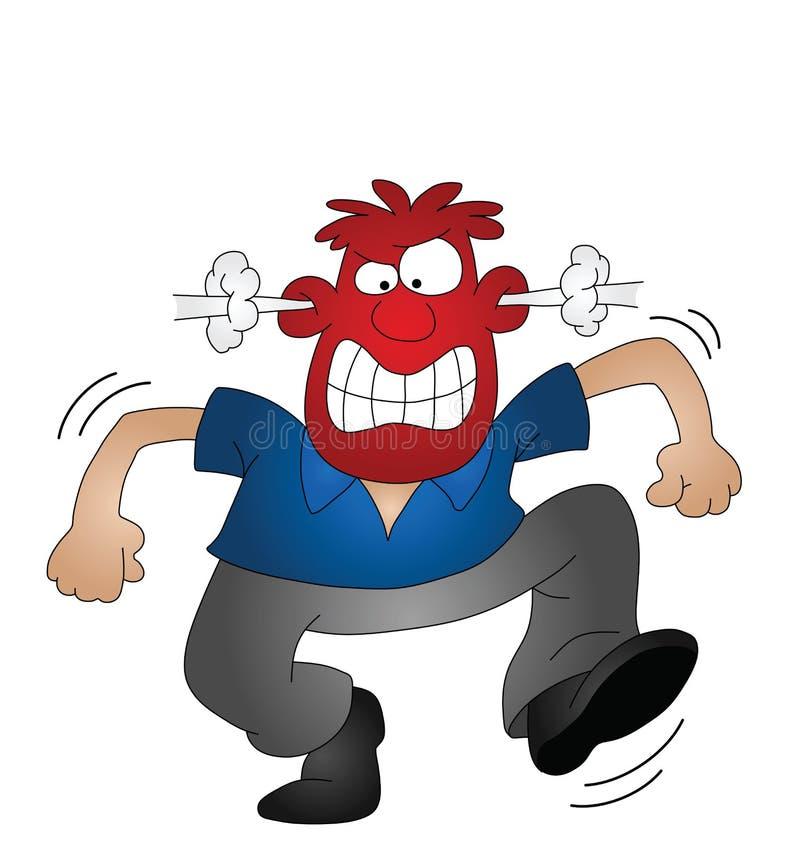 gniewny mężczyzna ilustracja wektor