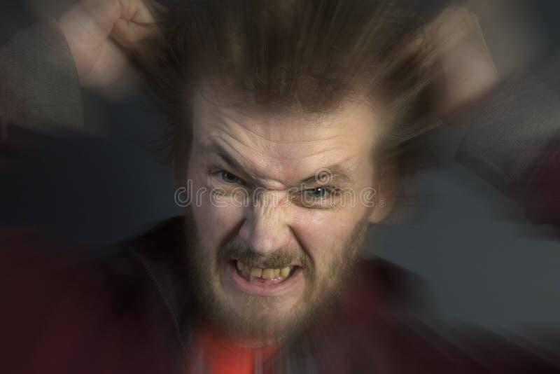 Gniewny mężczyzna zdjęcie royalty free