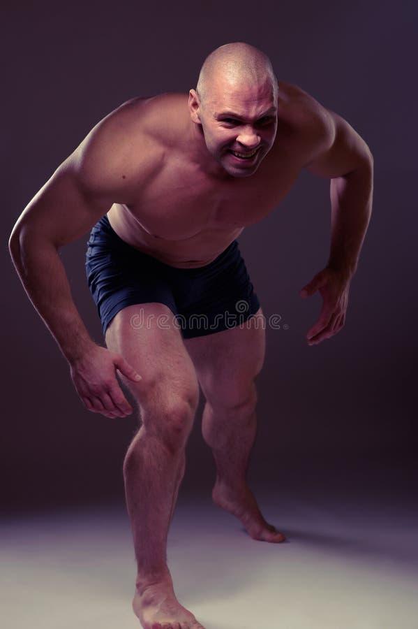 gniewny mężczyzna portreta dzikus zdjęcia royalty free
