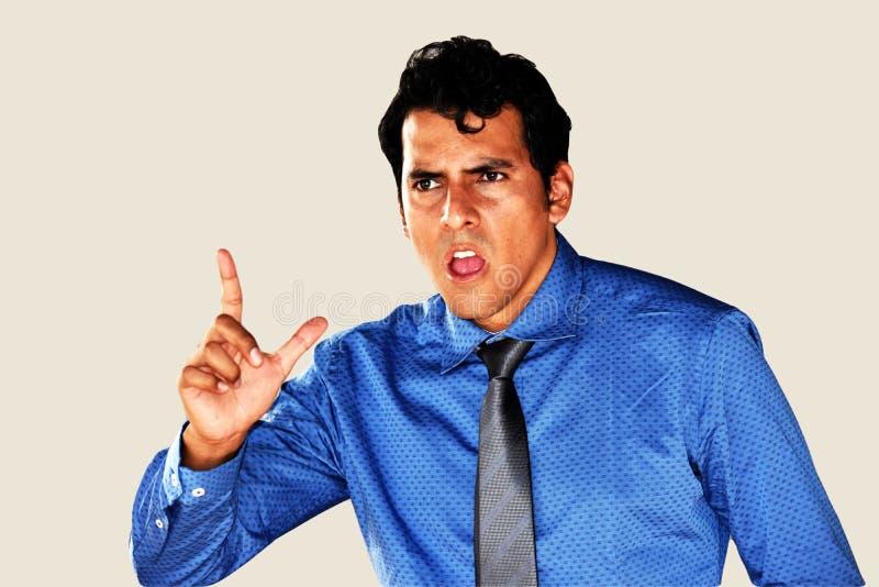 Gniewny Młody biznesmen Jest ubranym krawat obrazy royalty free
