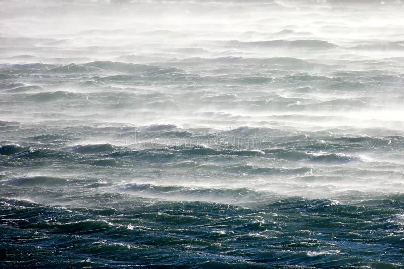 Gniewny morze - silnego wiatru Bura zdjęcia royalty free