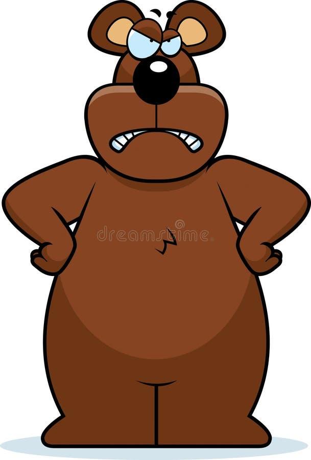 gniewny niedźwiedź ilustracji