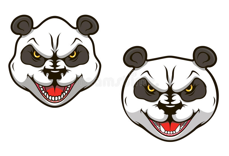 Gniewny panda niedźwiedź royalty ilustracja