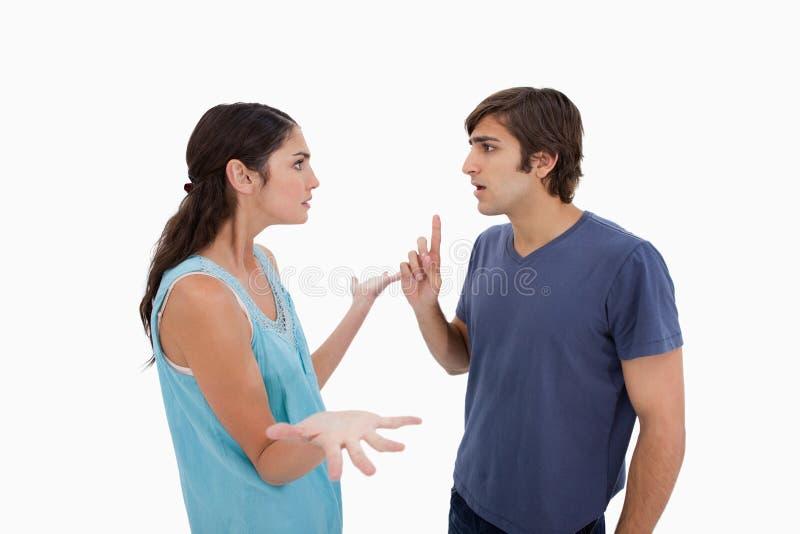 Gniewny pary argumentowanie obraz stock