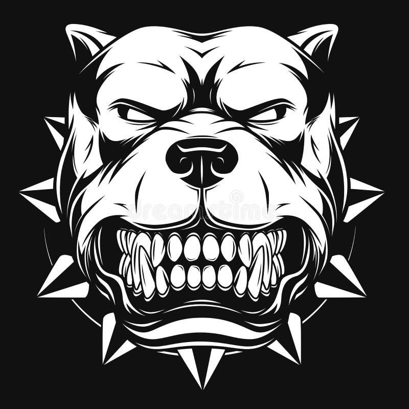Gniewny pies royalty ilustracja
