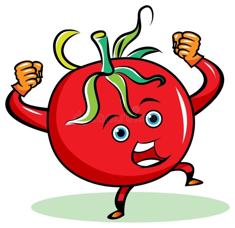 Gniewny pomidor ilustracja wektor
