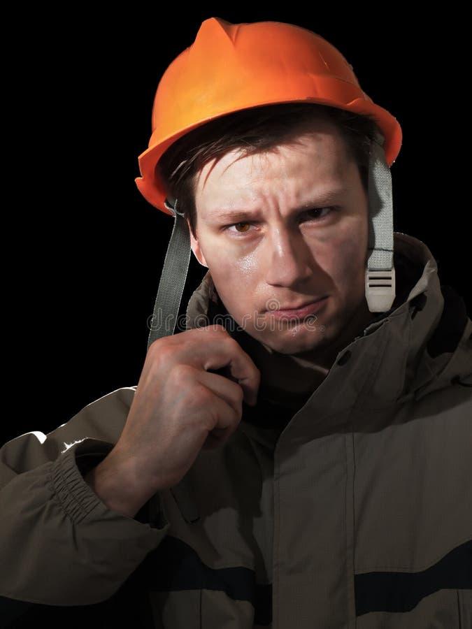 gniewny pracownik zdjęcia stock
