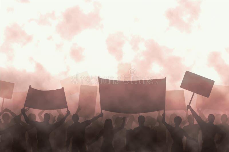 gniewny protest ilustracji