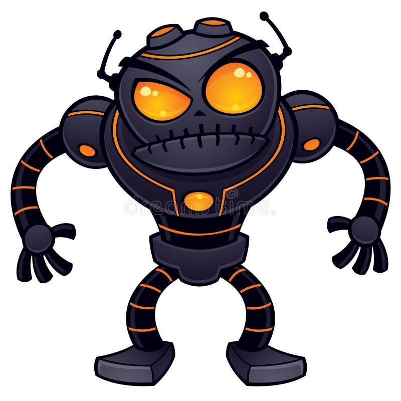gniewny robot royalty ilustracja
