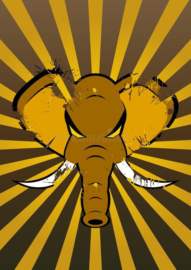 gniewny słoń ilustracji
