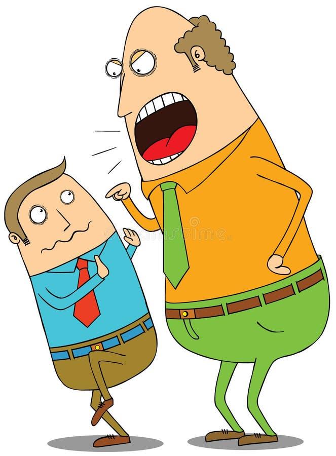 Gniewny szef ilustracja wektor