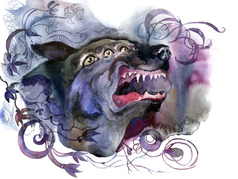 gniewny zwierzę ilustracja wektor