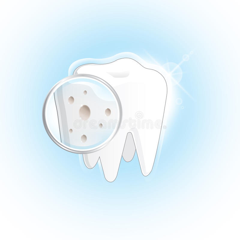 gnijący ząb ilustracja wektor