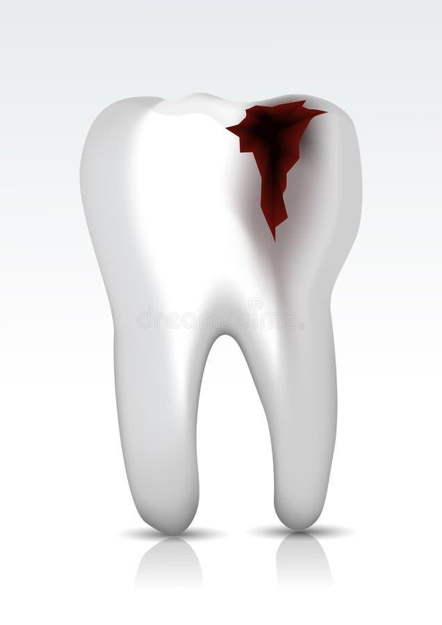 Gnijący zęby ilustracji