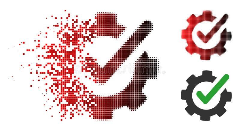 GnistrandePixelated rastrerad kontrollerande Asistance symbol stock illustrationer