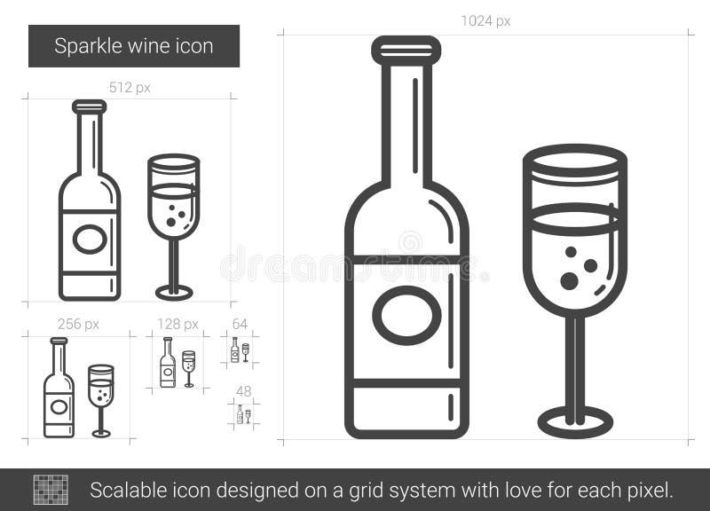 Gnistrandevinlinje symbol vektor illustrationer