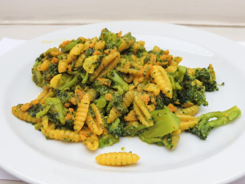Gnocchetti pasta food royalty free stock photo
