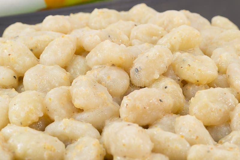 gnocchi块菌白色 库存照片