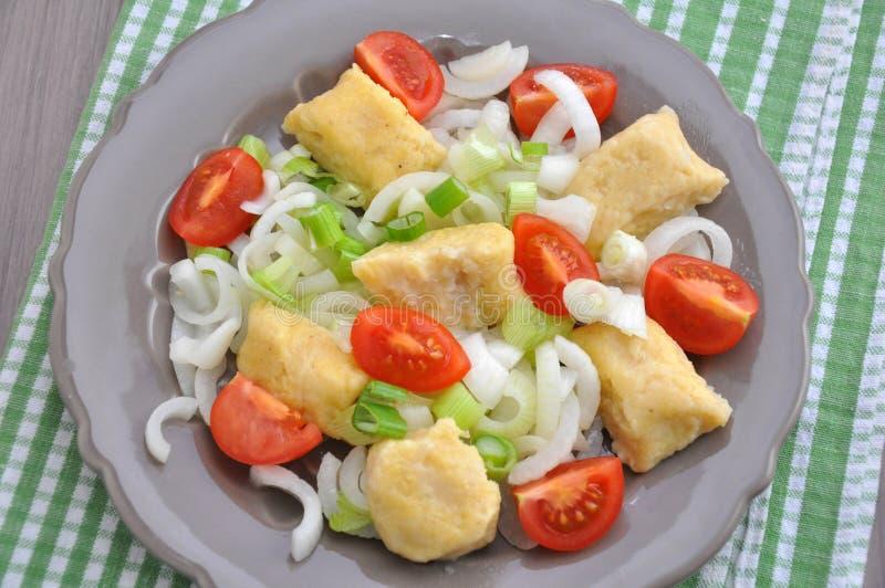 Download Gnocchi com tomates foto de stock. Imagem de forquilha - 29838018