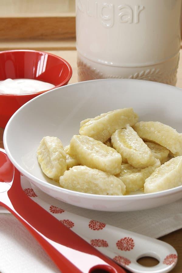 Gnocchi dulce del queso fotos de archivo