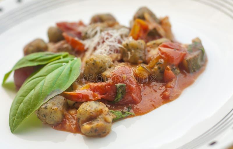 Gnocchi italiano imagem de stock