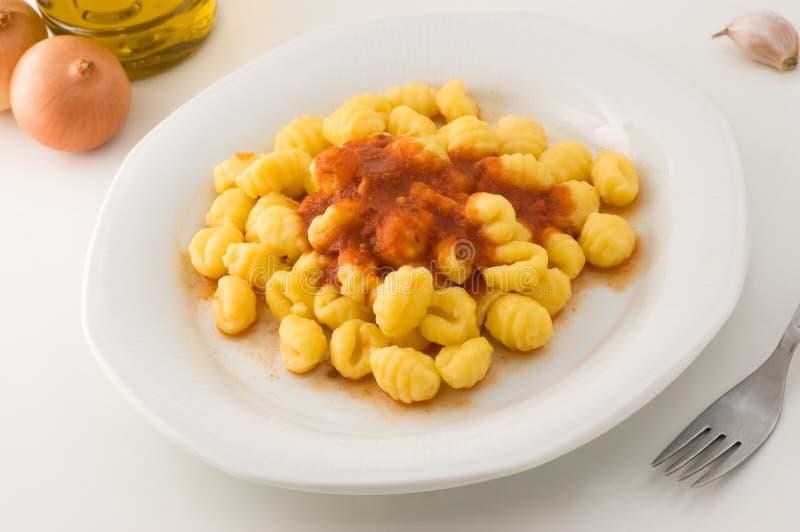 Gnocchi italiano. fotografia de stock