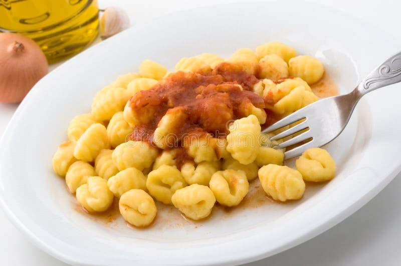 Gnocchi italiano. fotografia stock libera da diritti