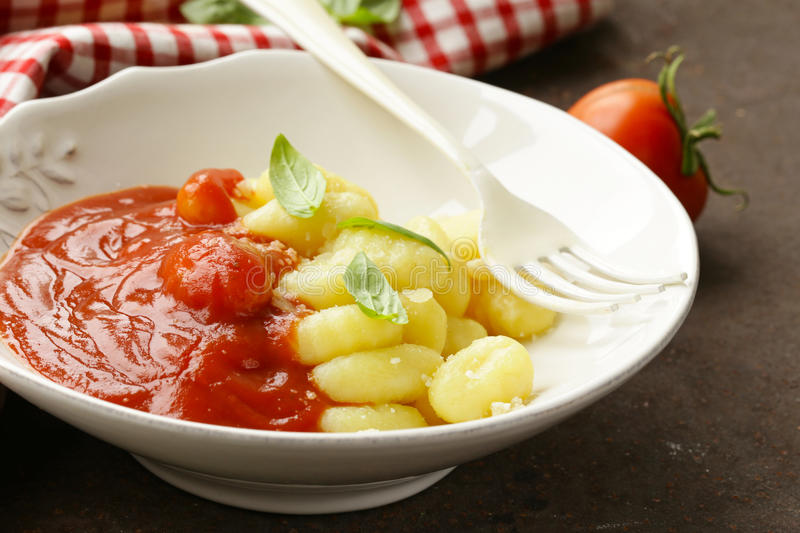 Gnocchi italien traditionnel photos libres de droits