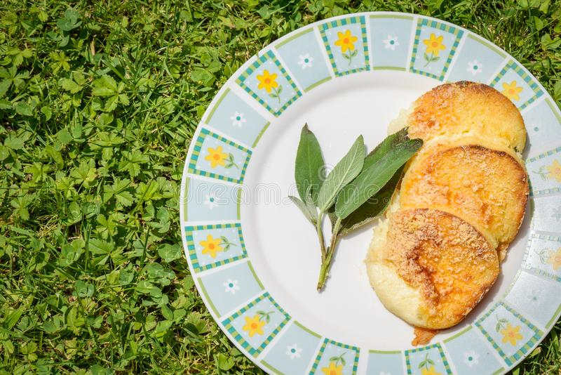 Italian recipe Gnocchi Romaneschi royalty free stock photos