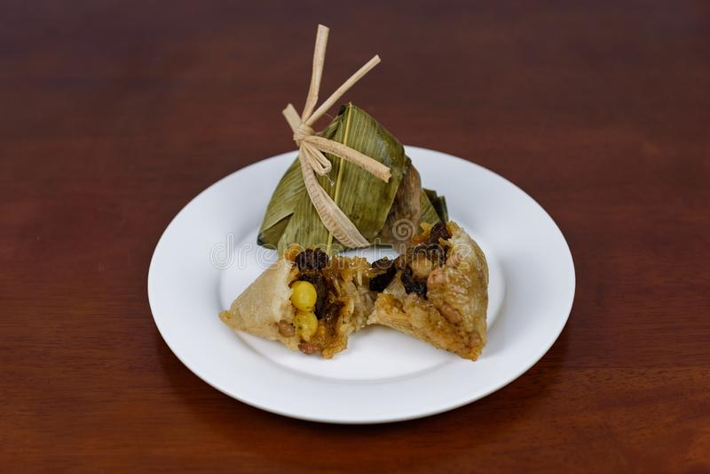 Gnocco del riso, gnocco del riso di Dragon Boat Festival fotografia stock