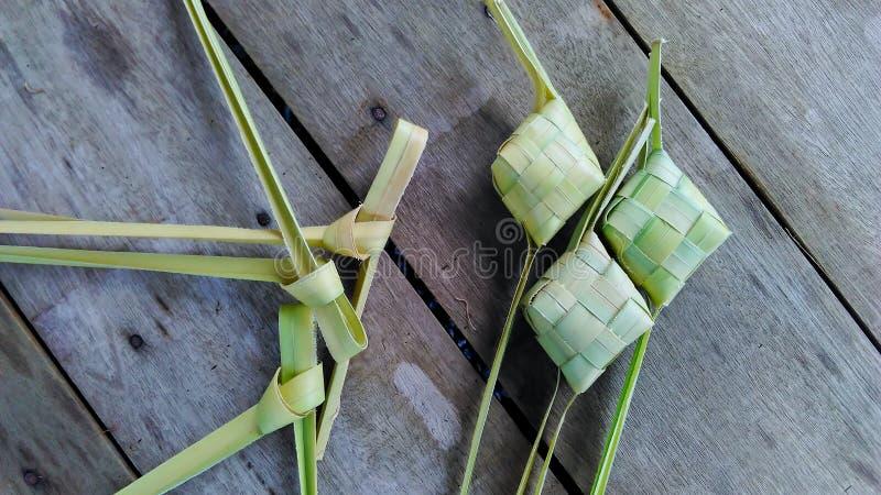 Gnocco o ketupat del riso fotografie stock