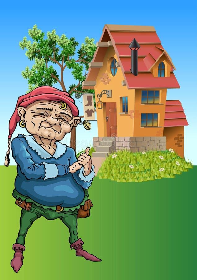 Gnome illustrazione vettoriale