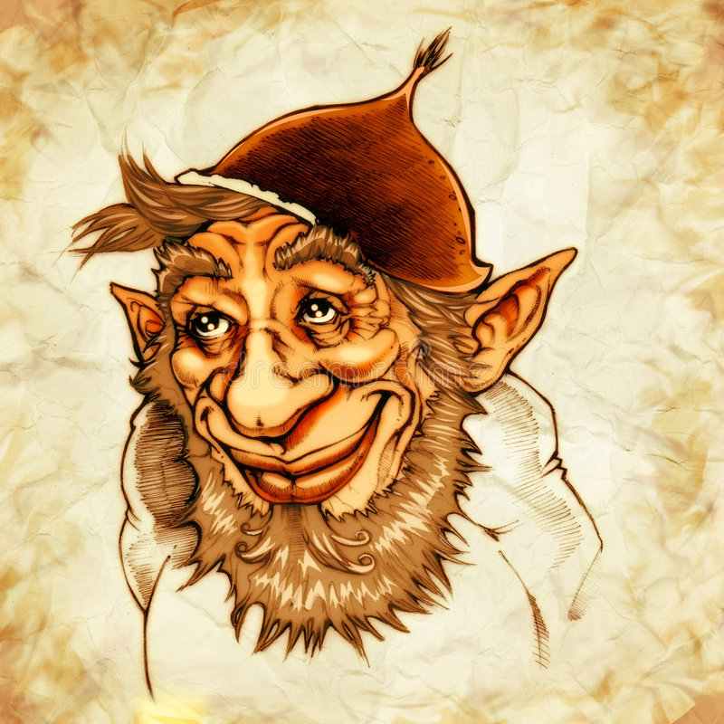 Download Gnome of the chestnuts stock illustration. Image of magic - 6506377