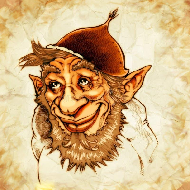 Gnome delle castagne illustrazione di stock
