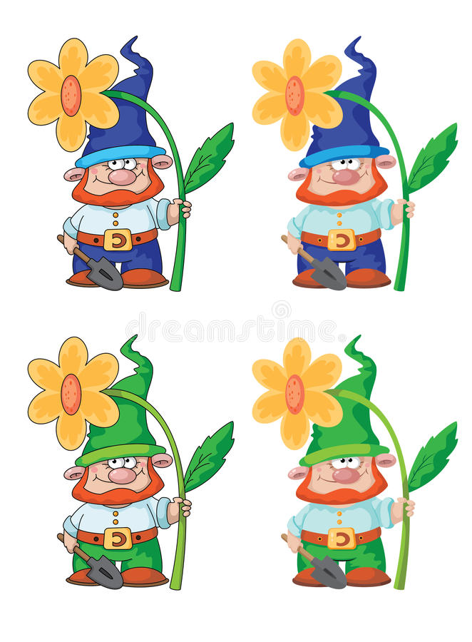 Gnome and flower